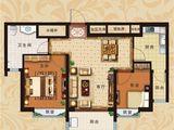 恒大翡翠华庭_2室2厅1卫 建面85平米