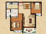 恒大翡翠华庭_2室2厅1卫 建面87平米
