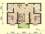 北洋景苑_2室2厅1卫 建面92平米