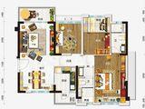 碧桂园太阳城_3室2厅2卫 建面100平米