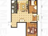 坤泽10里城_2室2厅1卫 建面103平米
