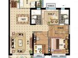 太原恒大金碧天下_3室2厅2卫 建面134平米